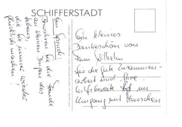 Dankeskarte Familie Wilhelm