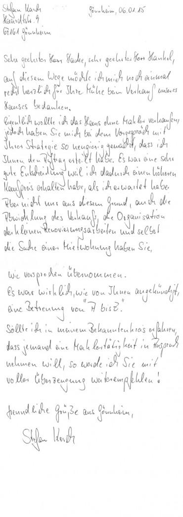 Referenzschreiben Herr Karch