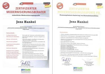 Qualifikation als zertifizierter Modernisierungsberater